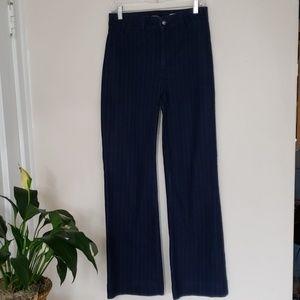 NYDJ pinstriped wide leg long tall size 8